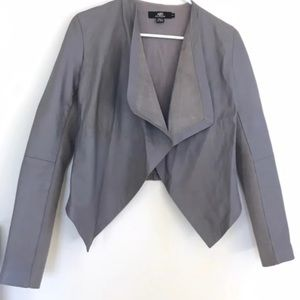 ABS PLATINUM Leather Waterfall Jacket XS